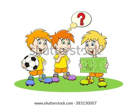 funny cartoon football players