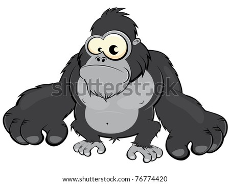 funny cartoon gorilla 450 x 360 26 kb jpeg credited