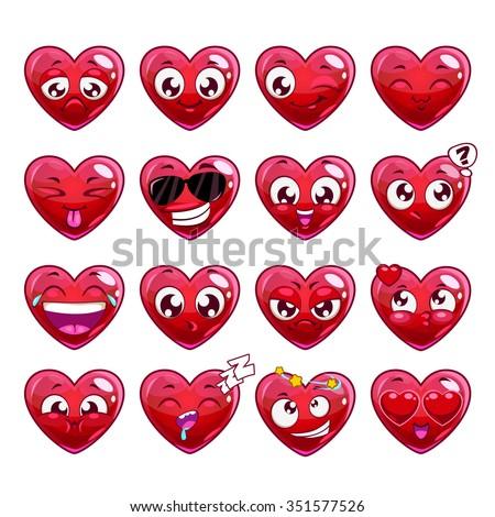 funny cartoon heart character