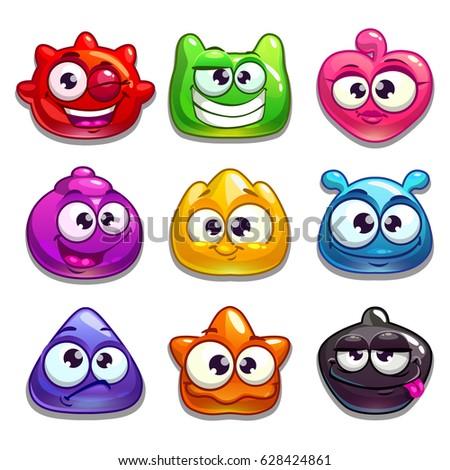 funny cartoon jelly characters