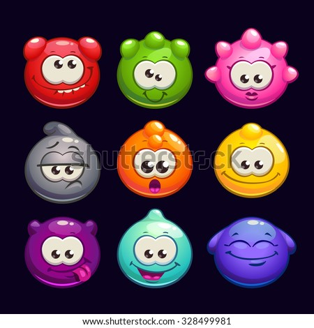funny cartoon  jelly round