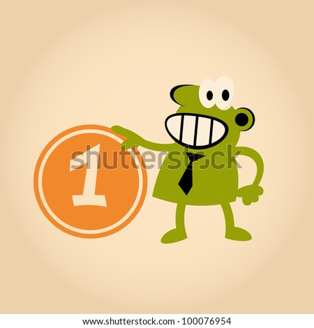 funny cartoon man with money