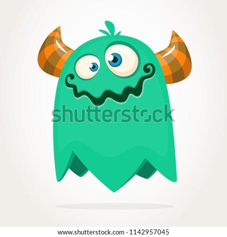 Funny cartoon monster. Vector clipart
