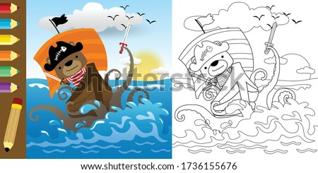 funny cartoon of pirate