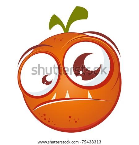 funny cartoon orange