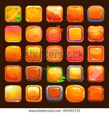 funny cartoon orange buttons