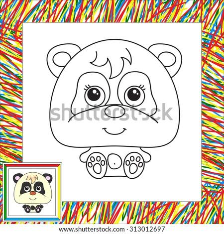 funny cartoon panda vector