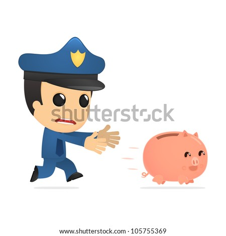 funny cartoon policeman in