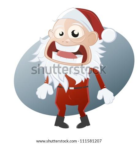 Afraid Santa Claus Cartoons