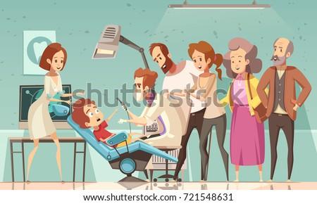 funny cartoon scene in dentist