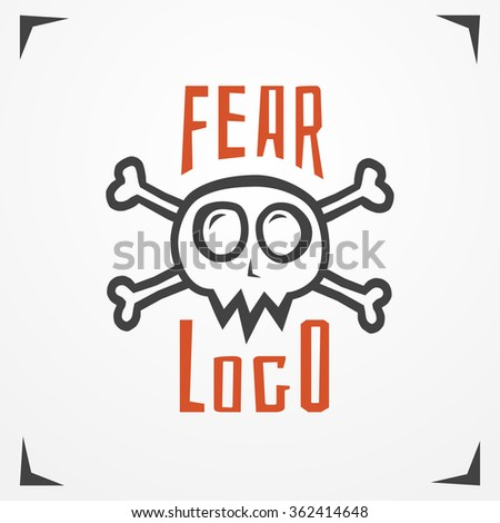 funny cartoon skull logo