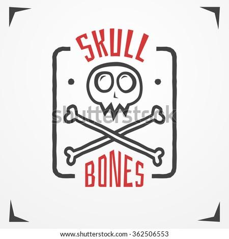 funny cartoon skull logo