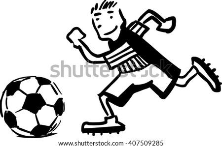 funny cartoon soccer player