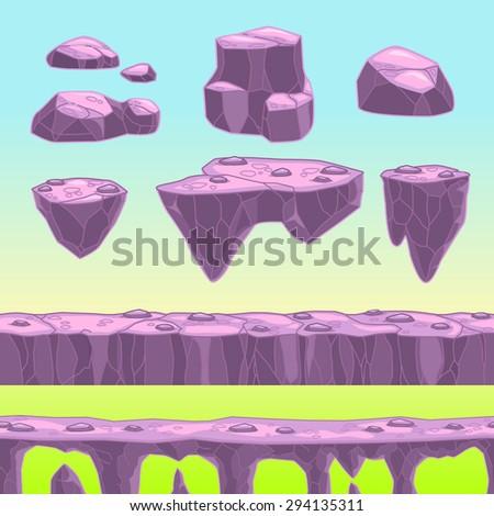 funny cartoon stones  seamless