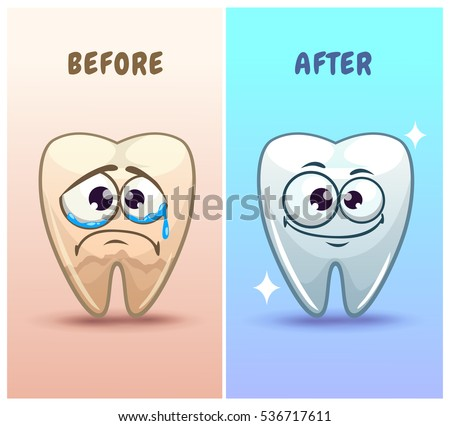 funny cartoon teeth characters