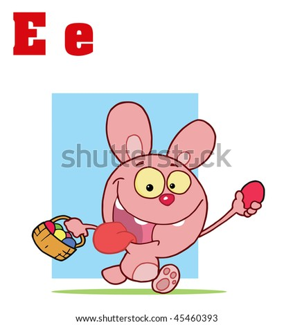 funny easter bunny pics. Alphabet-Easter Bunny With