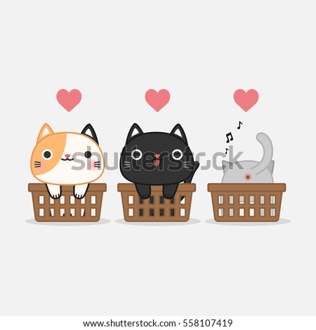 funny cats in baskets cute pet