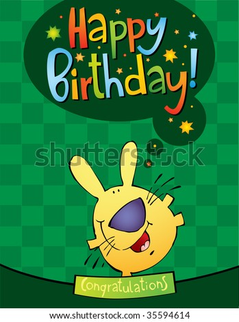 funny birthday pictures clip art. stock vector : funny character