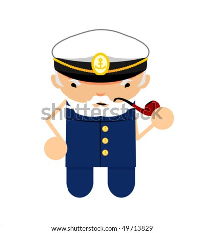 funny character boatswain with