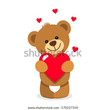 funny character teddy holding