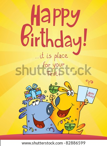 funny characters birthday cards