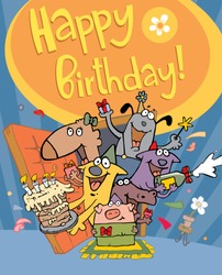 funny characters on birthday