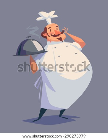 funny chef character isolated