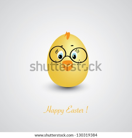 funny chick easter egg   happy