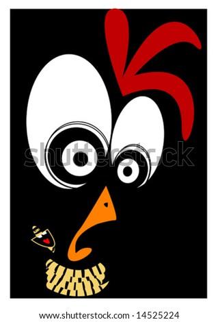 funny chicken. stock vector : Funny chicken