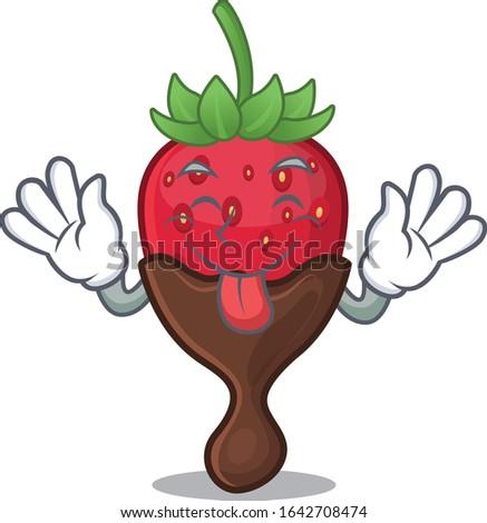 funny chocolate strawberry