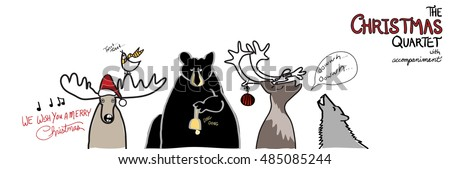 funny christmas design vector
