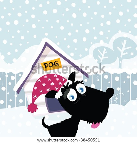 funny christmas pictures. stock vector : Funny christmas