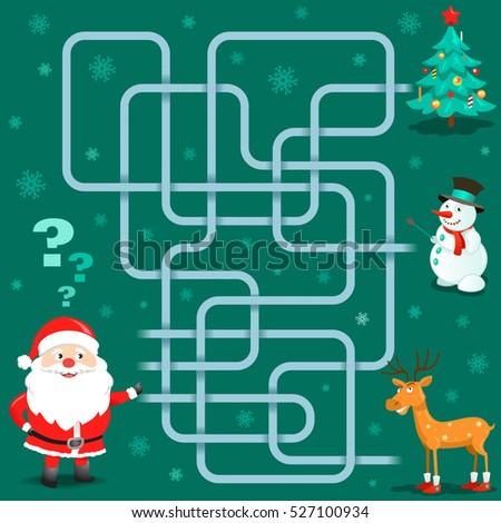 funny christmas maze game