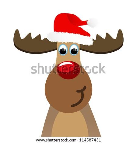 funny Christmas moose