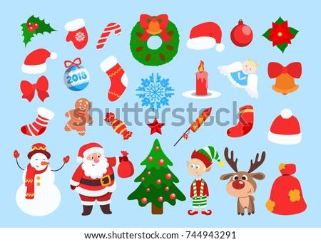 funny christmas stickers santa