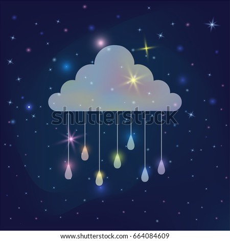 funny cloud poster for kids