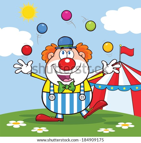 funny clown cartoon character