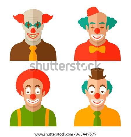 funny clown cartoon face