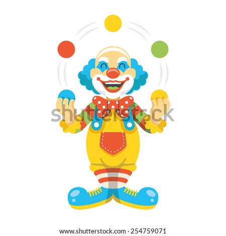 funny clown character vector