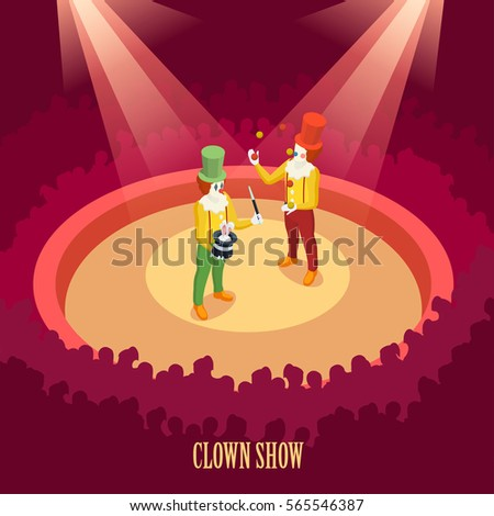 funny clowns performing on