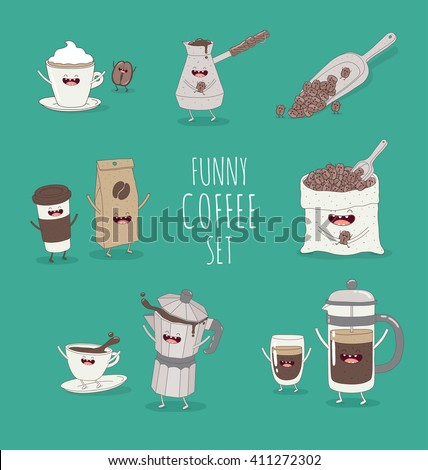 funny coffee set friend