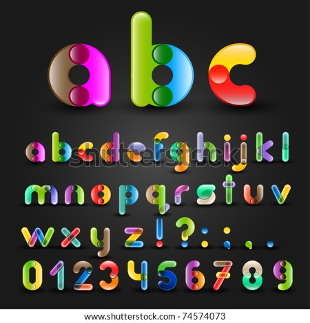 Funny Colorful Alphabet With Numbers