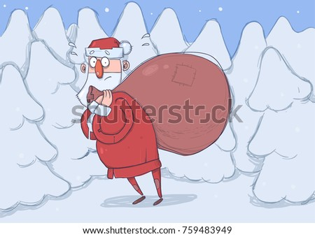 funny confused santa claus with