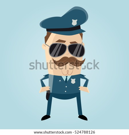 funny cop with sunglasses and