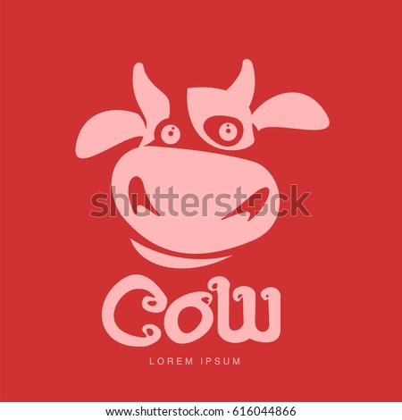 vector images illustrations and cliparts funny cow head logo