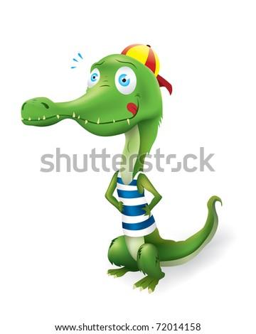 Funny Crocodile Vector - 72014158 : Shutterstock