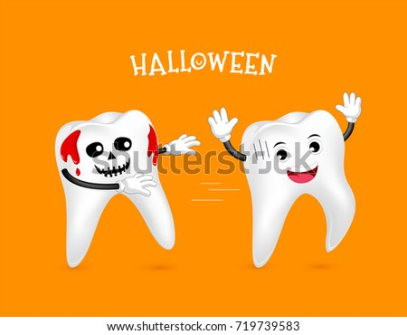 funny cute cartoon tooth