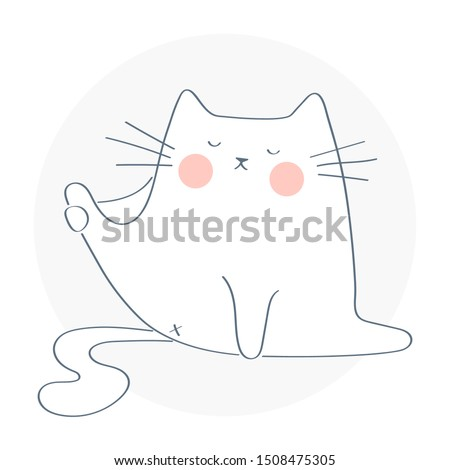 funny cute cat trying to