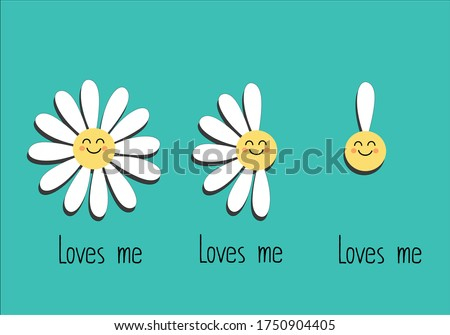 funny daisy hand drawn vector with daisy summer daisy hand drawn on blue vector green  flower hand drawn spring daisy flower vector fabric towel design pattern  summer print  ditsy flower  stationery,