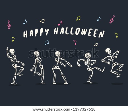 funny dancing cartoon skeleton